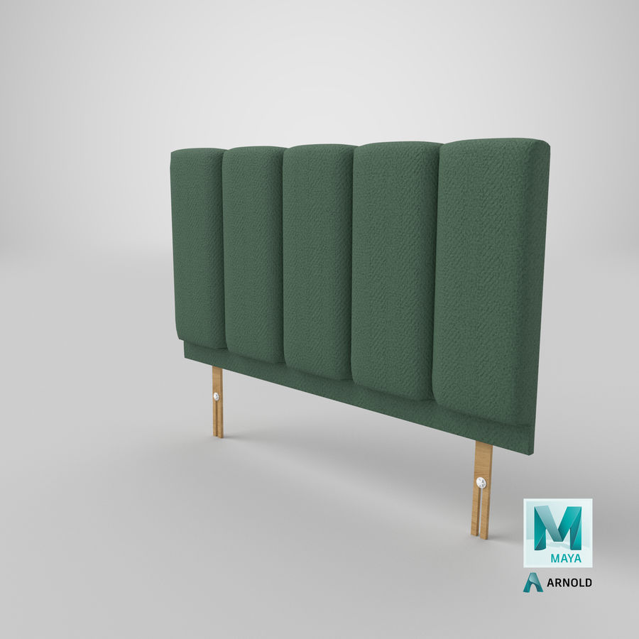Headboard 02 Mint royalty-free 3d model - Preview no. 27