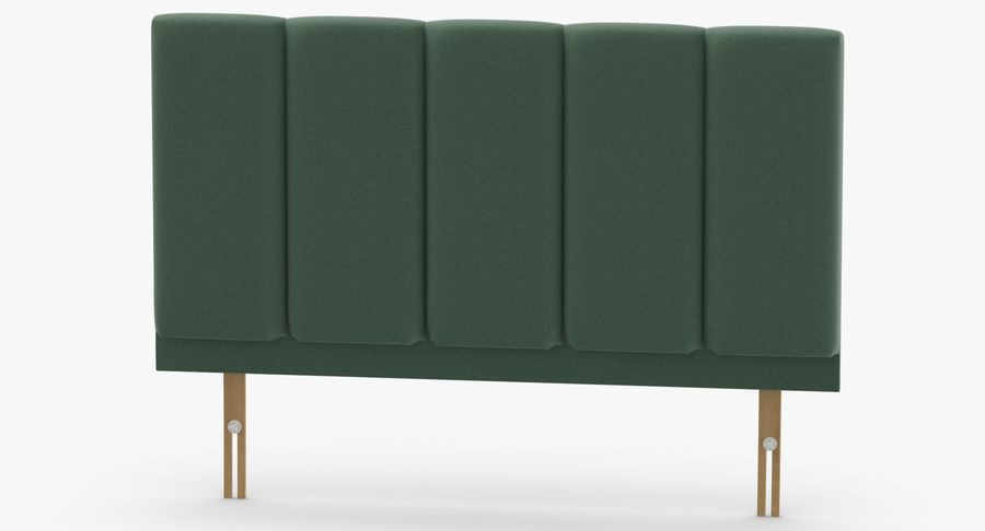 Headboard 02 Mint royalty-free 3d model - Preview no. 5