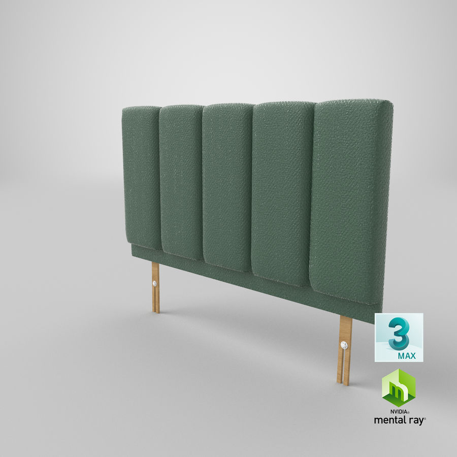 Headboard 02 Mint royalty-free 3d model - Preview no. 25