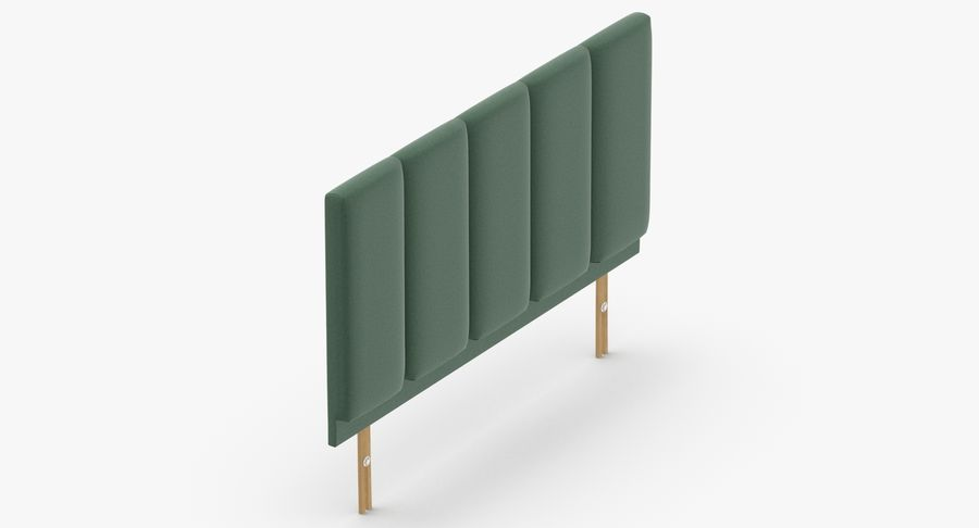 Headboard 02 Mint royalty-free 3d model - Preview no. 7