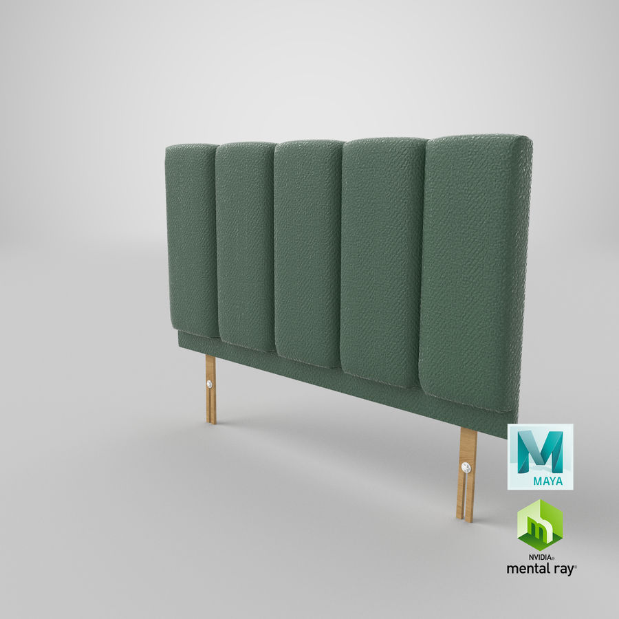 Headboard 02 Mint royalty-free 3d model - Preview no. 28