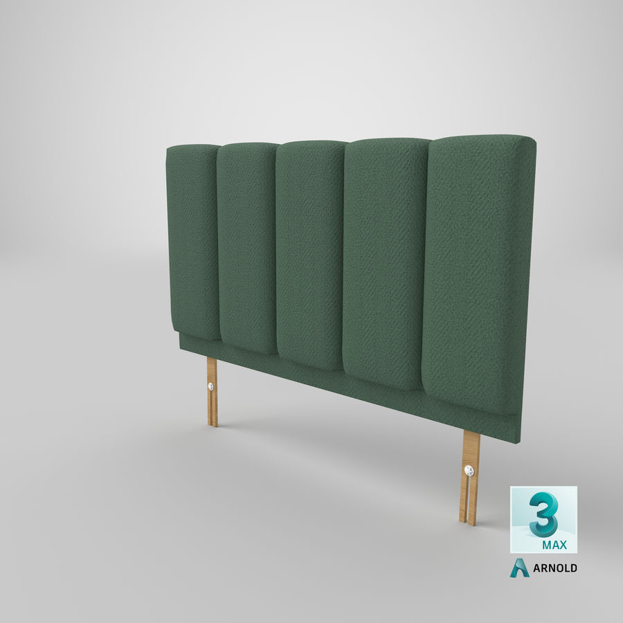 Headboard 02 Mint royalty-free 3d model - Preview no. 24