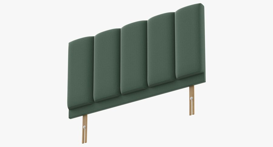 Headboard 02 Mint royalty-free 3d model - Preview no. 9