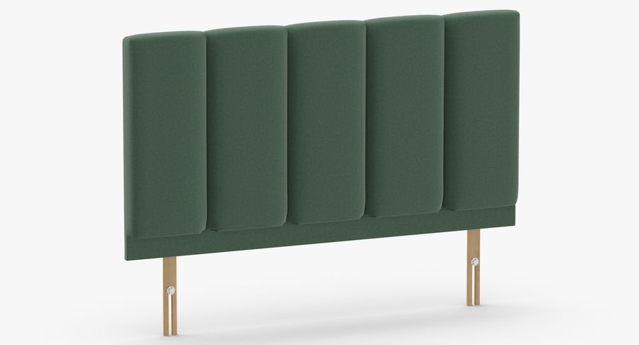 Headboard 02 Mint royalty-free 3d model - Preview no. 3