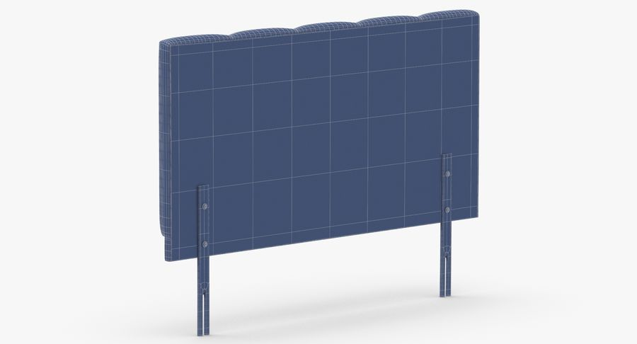 Headboard 02 Mint royalty-free 3d model - Preview no. 14