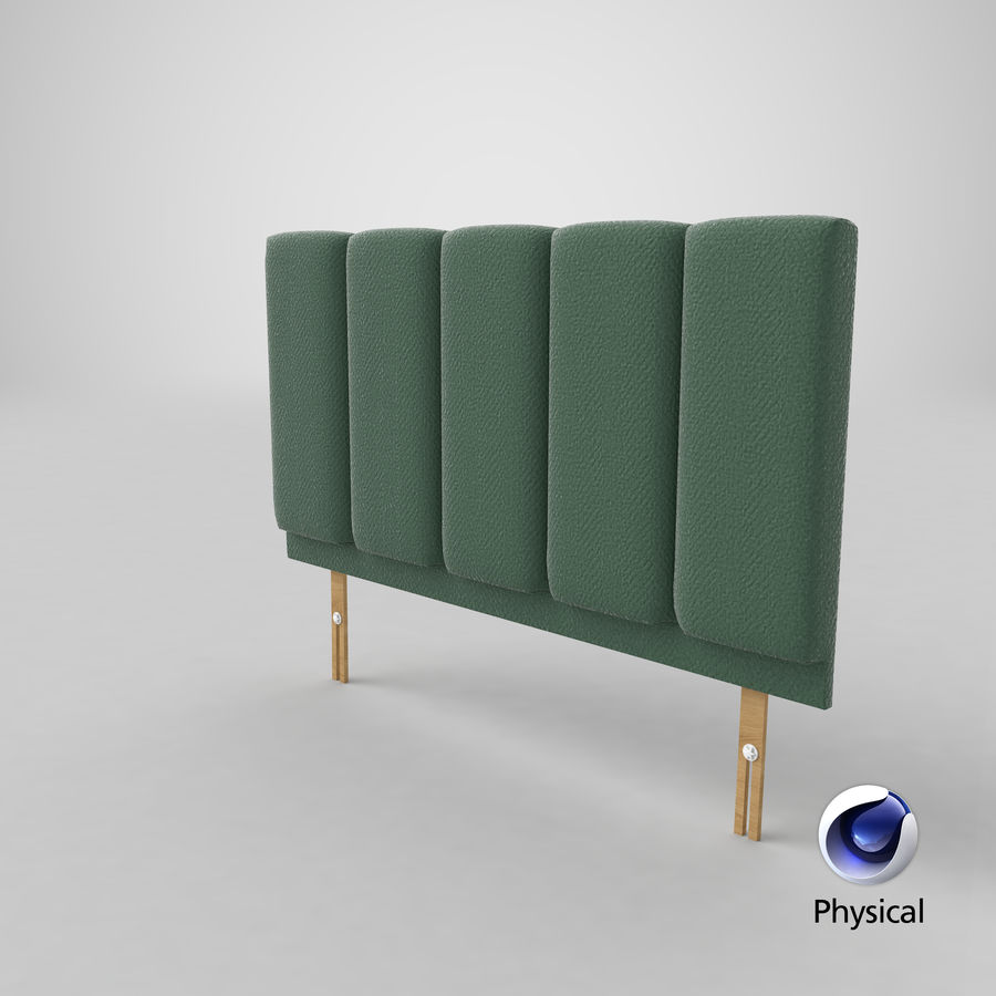 Headboard 02 Mint royalty-free 3d model - Preview no. 22