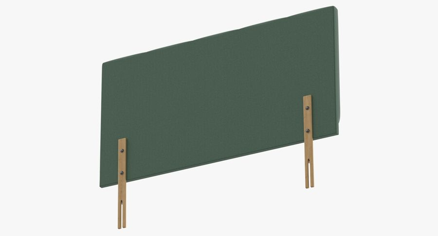 Headboard 02 Mint royalty-free 3d model - Preview no. 8