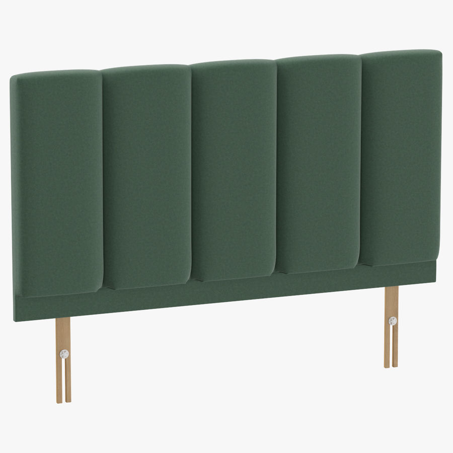 Headboard 02 Mint royalty-free 3d model - Preview no. 1