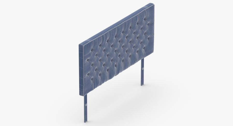 Headboard 06 Charcoal royalty-free 3d model - Preview no. 15