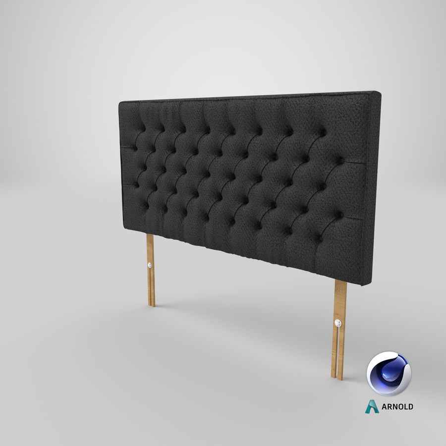 Headboard 06 Charcoal royalty-free 3d model - Preview no. 23