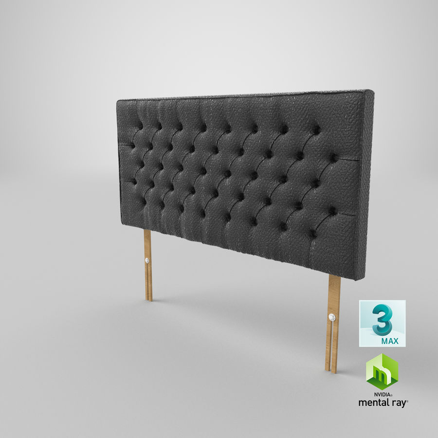 Headboard 06 Charcoal royalty-free 3d model - Preview no. 25