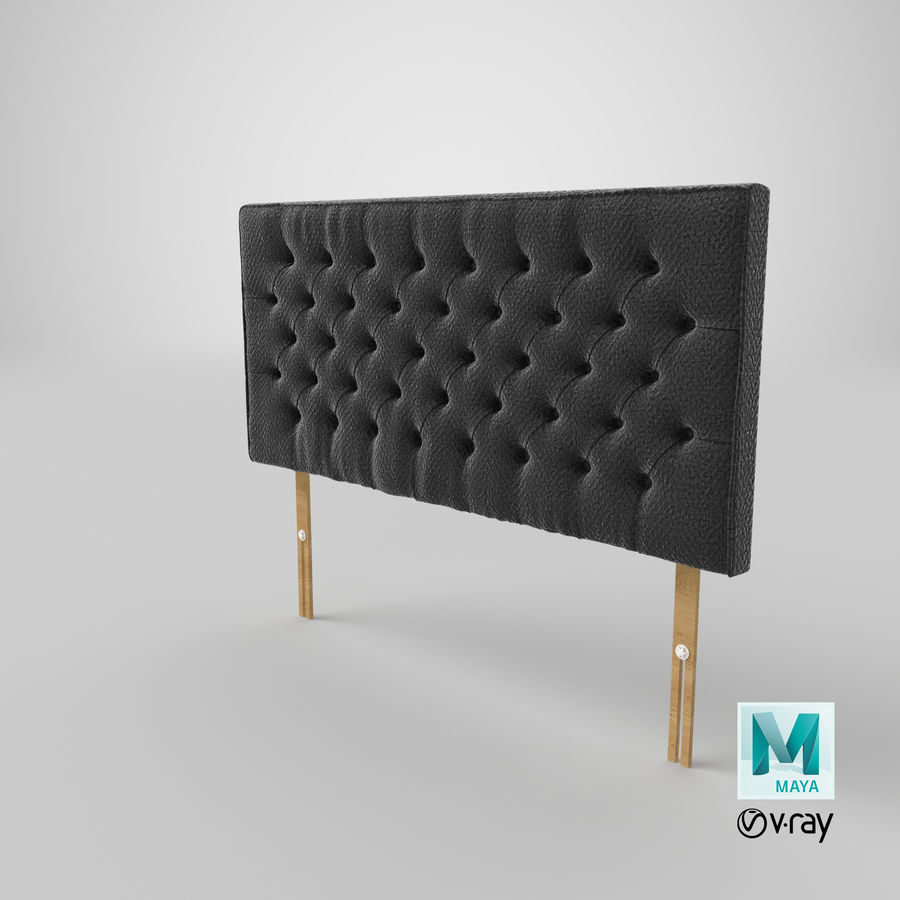Headboard 06 Charcoal royalty-free 3d model - Preview no. 29