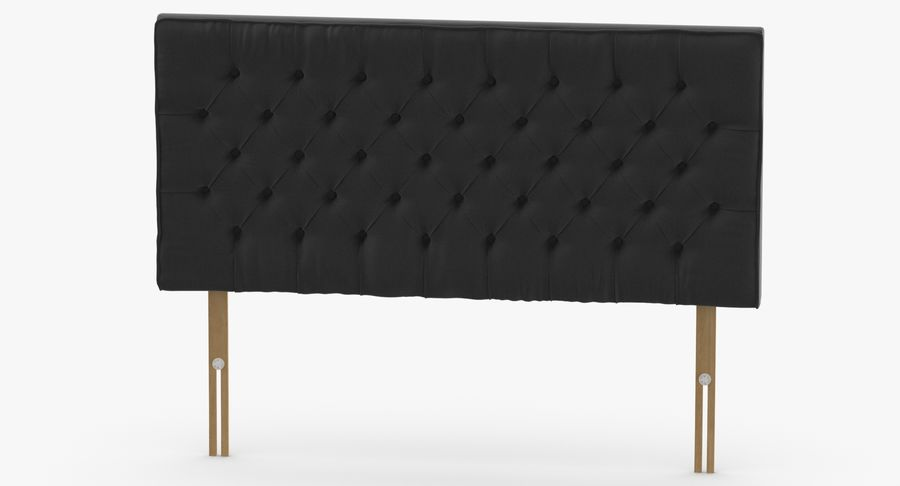 Headboard 06 Charcoal royalty-free 3d model - Preview no. 5