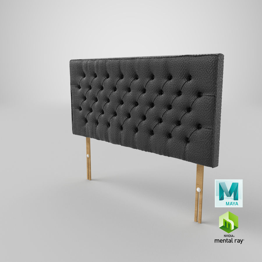 Headboard 06 Charcoal royalty-free 3d model - Preview no. 28