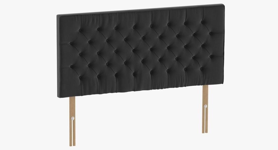 Headboard 06 Charcoal royalty-free 3d model - Preview no. 2