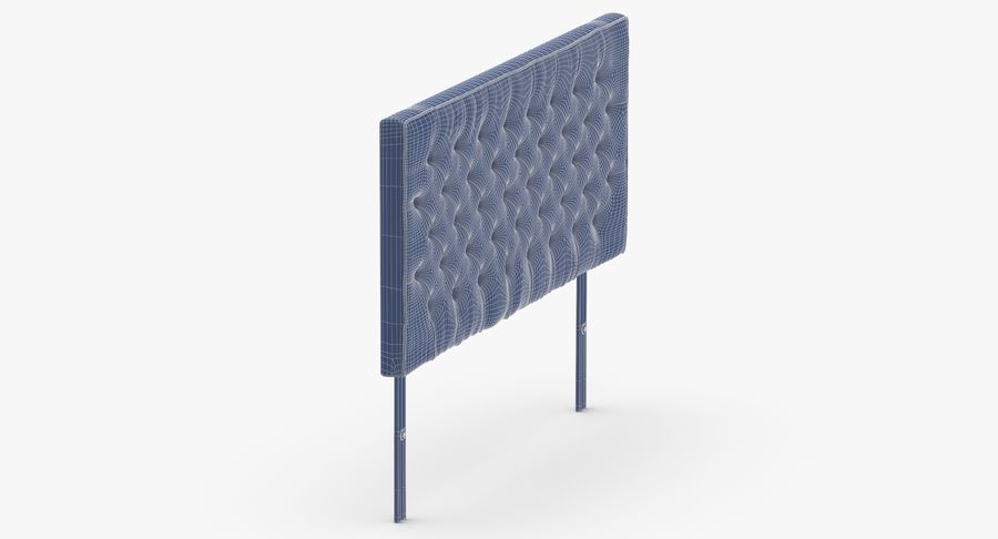 Headboard 06 Charcoal royalty-free 3d model - Preview no. 12