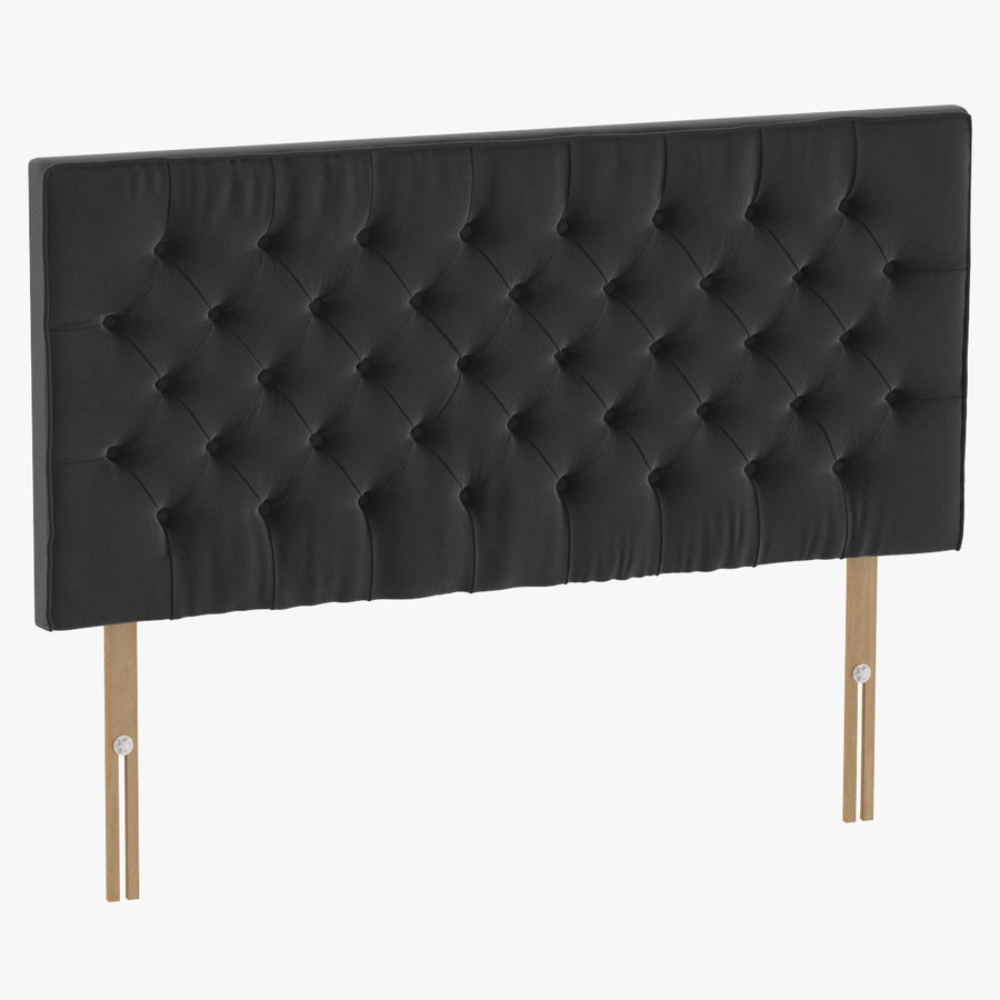Headboard 06 Charcoal royalty-free 3d model - Preview no. 1