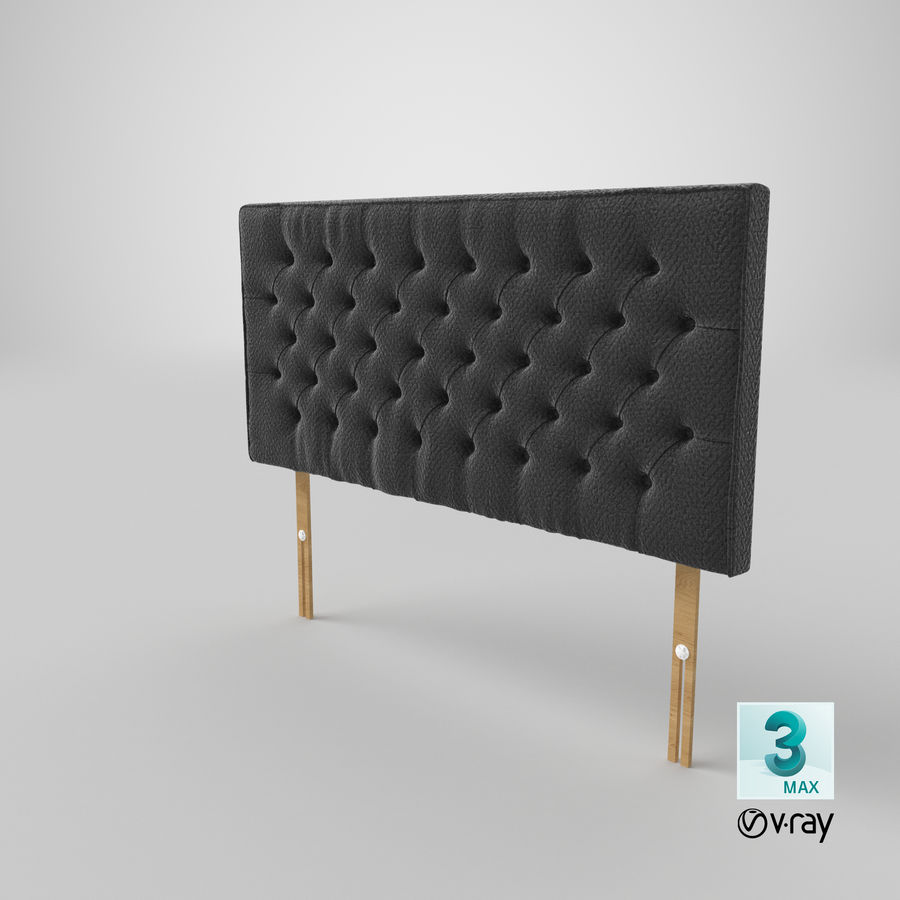 Headboard 06 Charcoal royalty-free 3d model - Preview no. 26