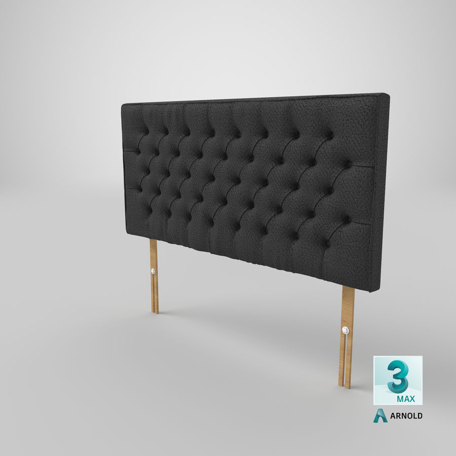 Headboard 06 Charcoal royalty-free 3d model - Preview no. 24