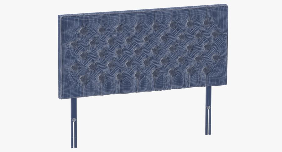 Headboard 06 Charcoal royalty-free 3d model - Preview no. 10