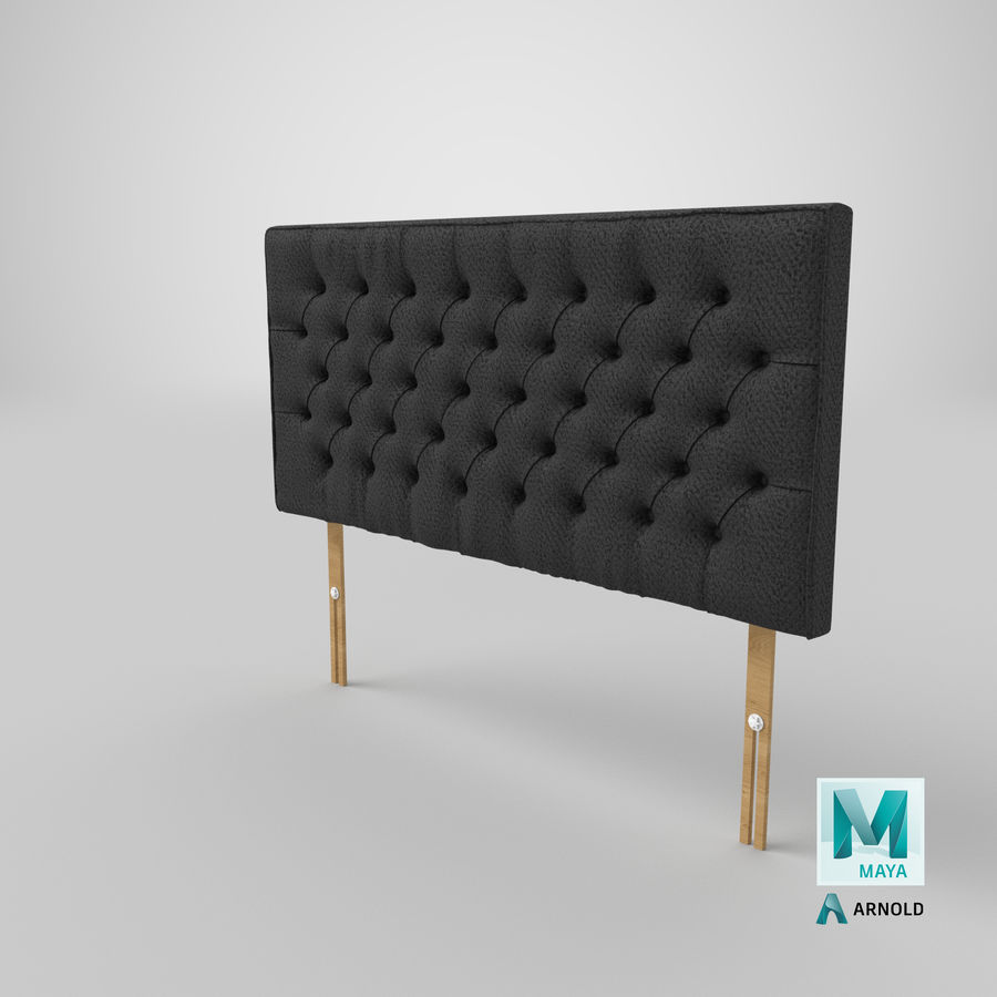 Headboard 06 Charcoal royalty-free 3d model - Preview no. 27