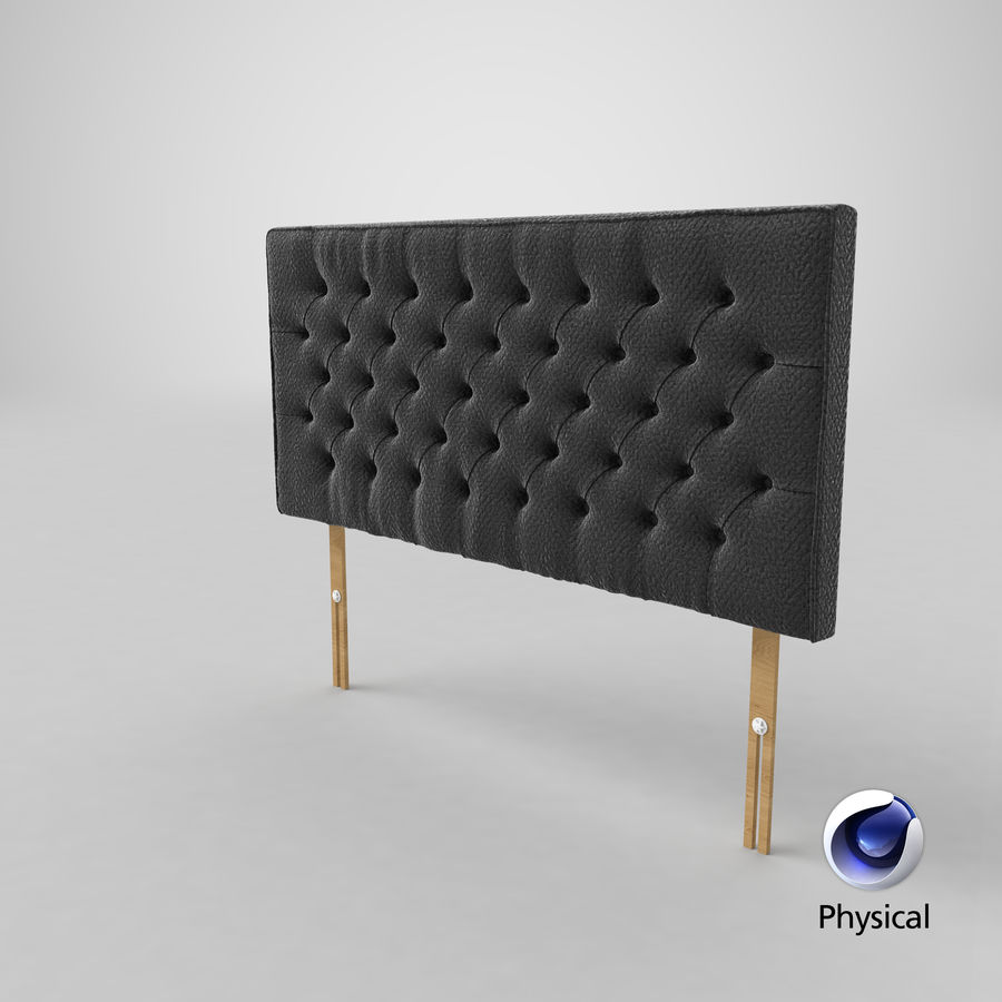Headboard 06 Charcoal royalty-free 3d model - Preview no. 22