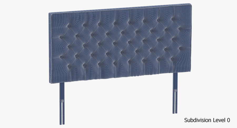 Headboard 06 Charcoal royalty-free 3d model - Preview no. 18