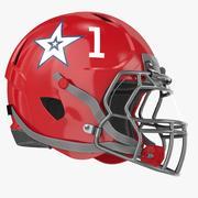 Röd fotbollshjälm 3d model