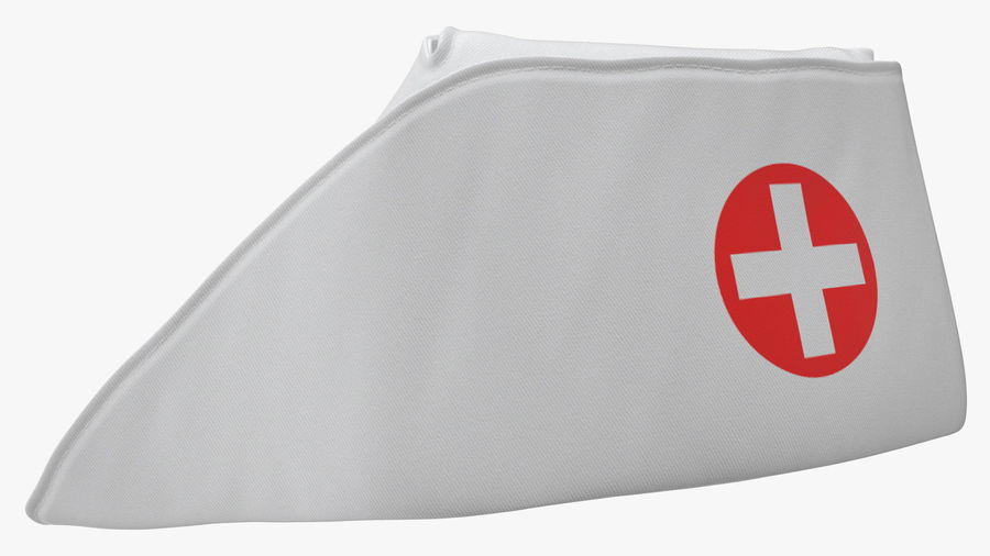 Sjuksköterska Cap royalty-free 3d model - Preview no. 8