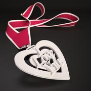 """Tryckbar medaljong för 3D-tryckbar med hänge """"I Love You"""" 3d model"""