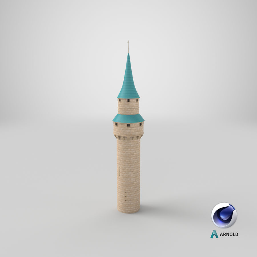 Schlossturm royalty-free 3d model - Preview no. 14