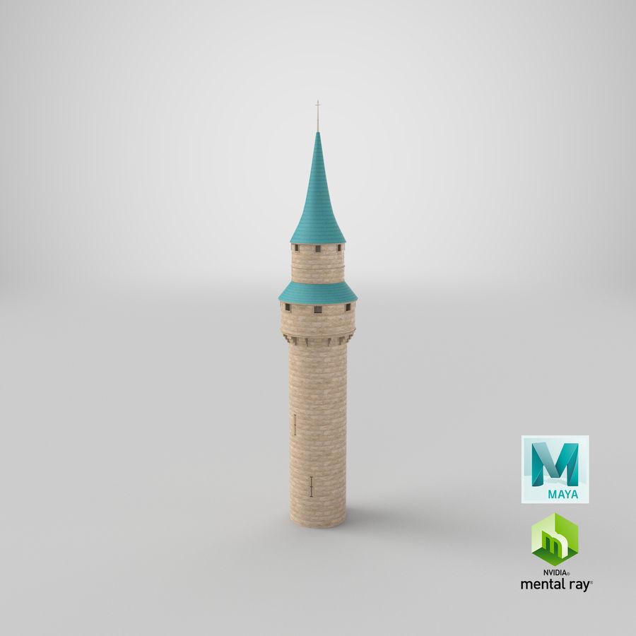 Schlossturm royalty-free 3d model - Preview no. 19