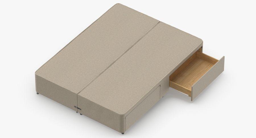 ベッドベース01オートミール1 royalty-free 3d model - Preview no. 7