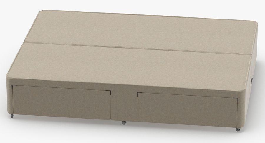 ベッドベース01オートミール1 royalty-free 3d model - Preview no. 5