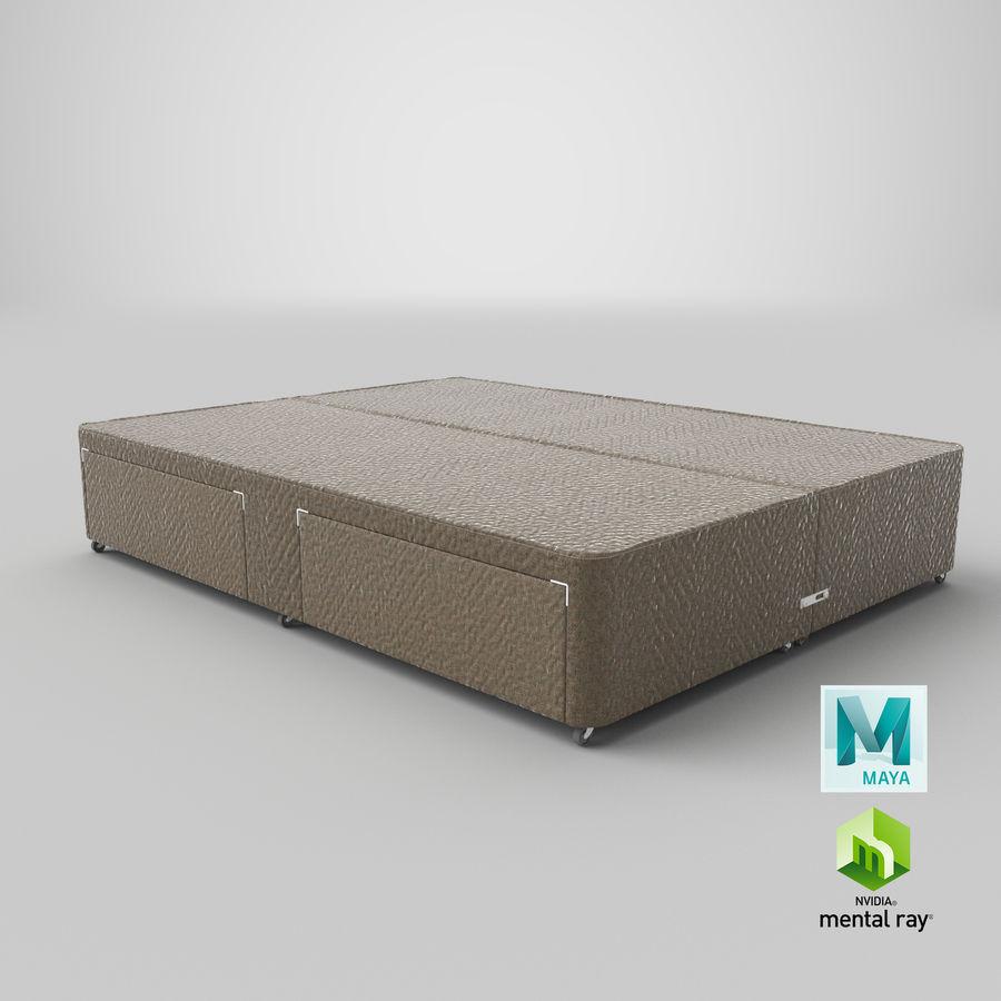ベッドベース01オートミール1 royalty-free 3d model - Preview no. 28