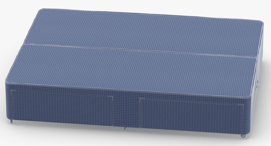 ベッドベース01オートミール1 royalty-free 3d model - Preview no. 15