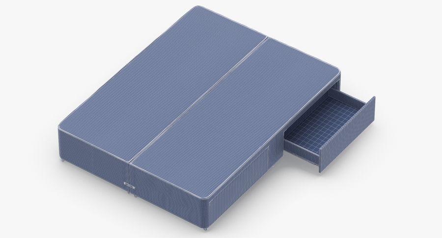 ベッドベース01オートミール1 royalty-free 3d model - Preview no. 17