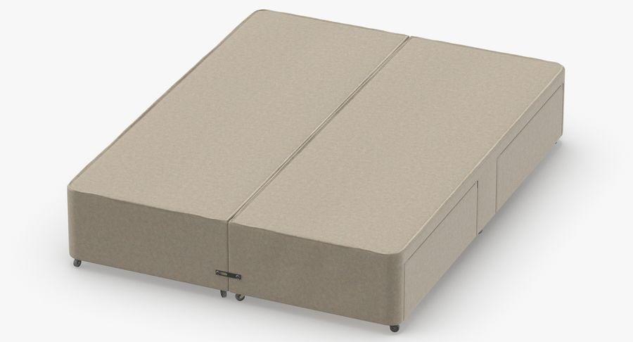 ベッドベース01オートミール1 royalty-free 3d model - Preview no. 4