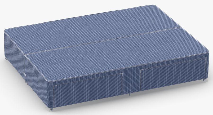 ベッドベース01オートミール1 royalty-free 3d model - Preview no. 13