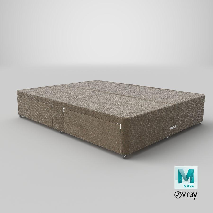 ベッドベース01オートミール1 royalty-free 3d model - Preview no. 29