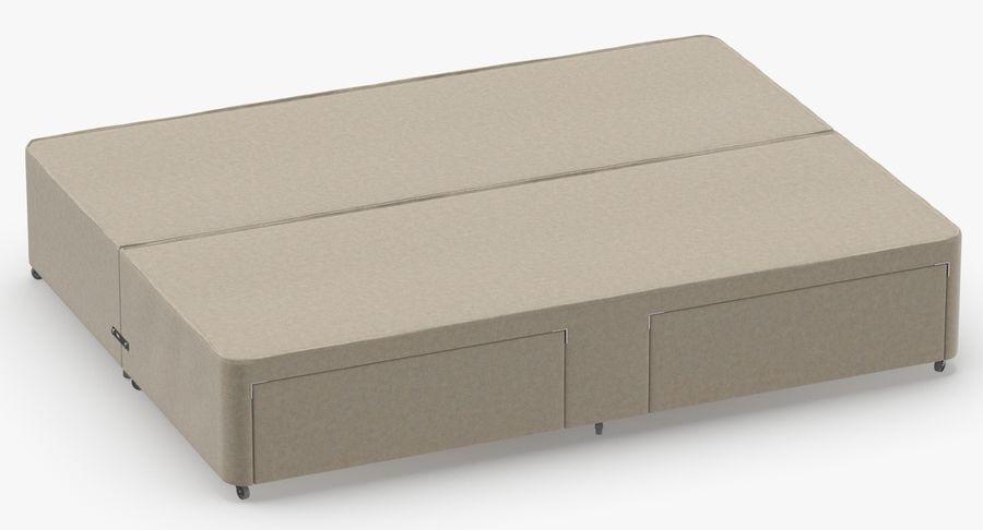 ベッドベース01オートミール1 royalty-free 3d model - Preview no. 3