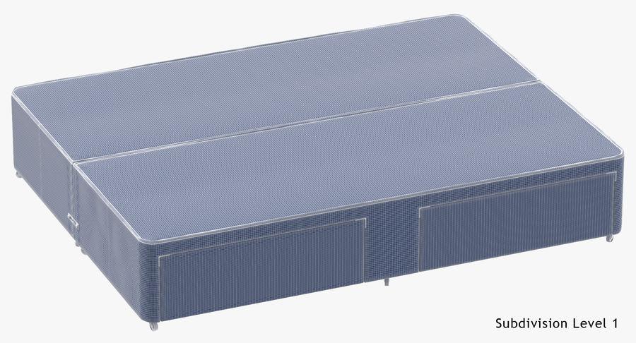ベッドベース01オートミール1 royalty-free 3d model - Preview no. 11