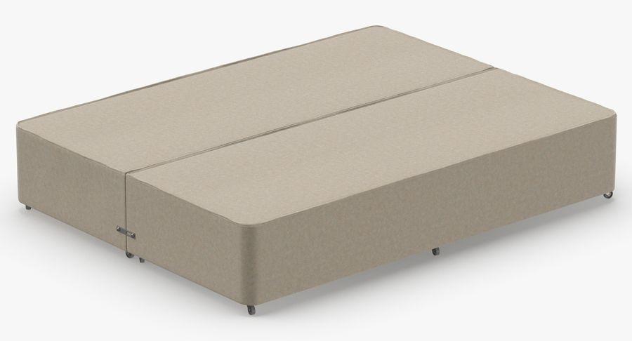ベッドベース01オートミール1 royalty-free 3d model - Preview no. 6