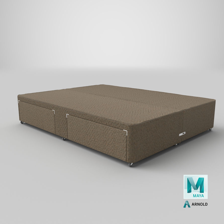 ベッドベース01オートミール1 royalty-free 3d model - Preview no. 27