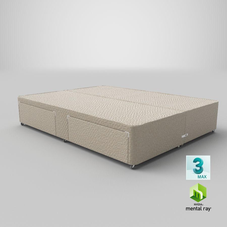 ベッドベース01オートミール1 royalty-free 3d model - Preview no. 25