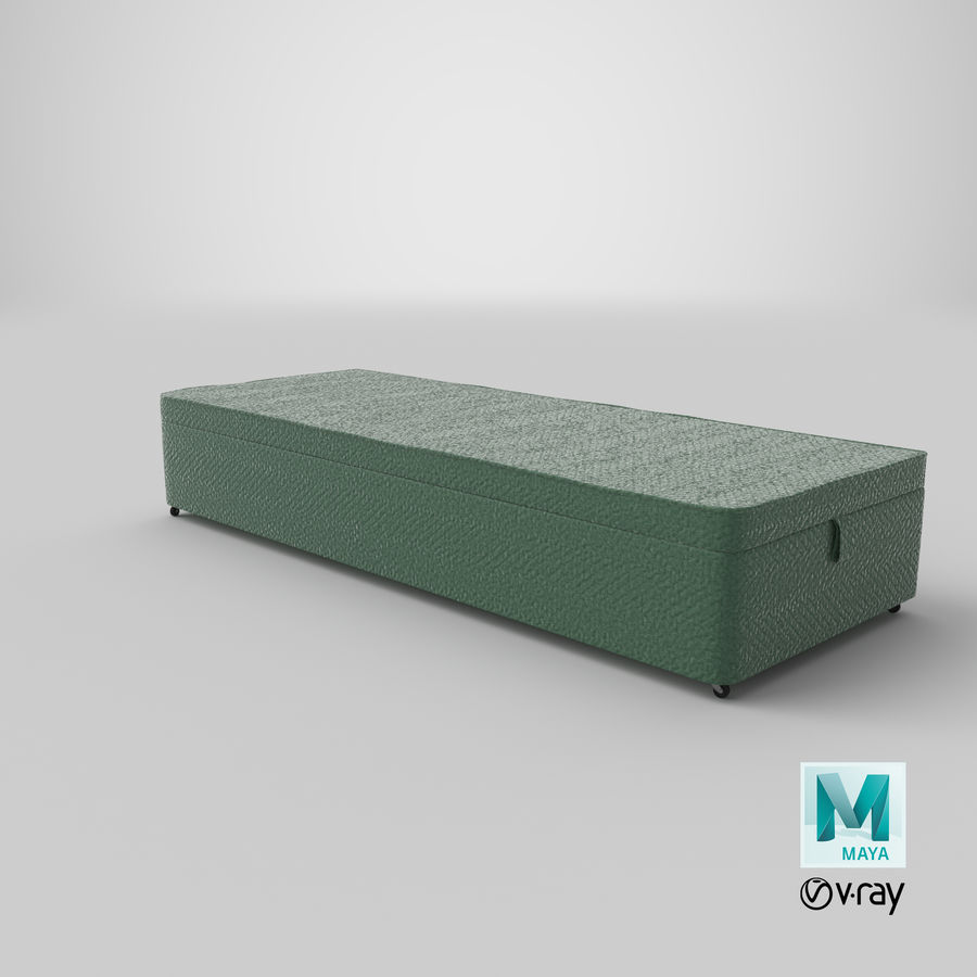 Bed Base 02 Mint royalty-free 3d model - Preview no. 28
