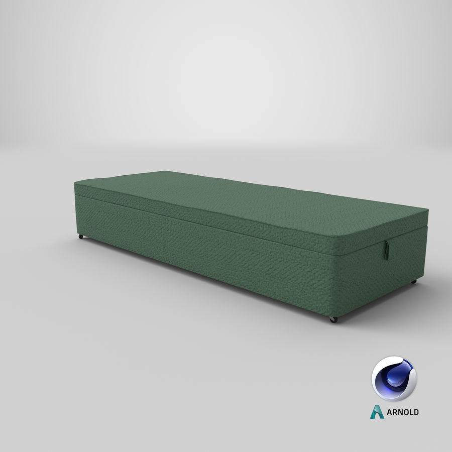Bed Base 02 Mint royalty-free 3d model - Preview no. 22