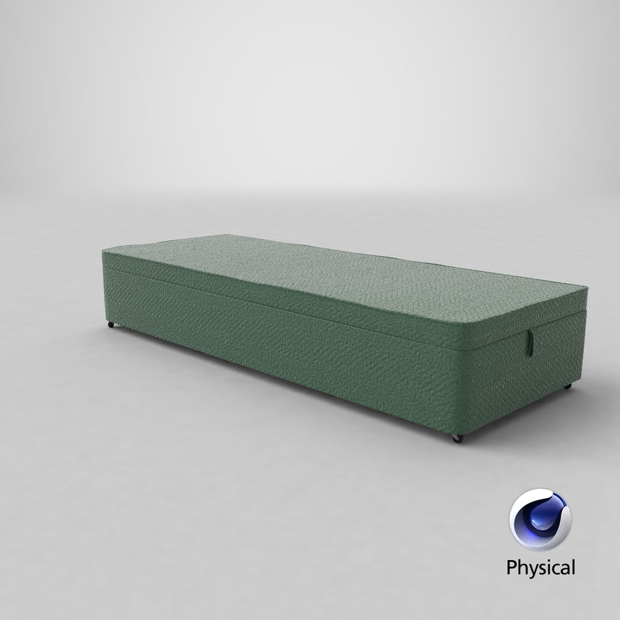Bed Base 02 Mint royalty-free 3d model - Preview no. 21
