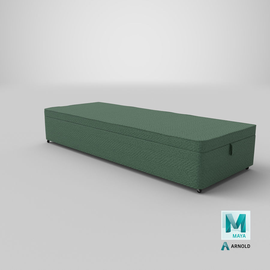 Bed Base 02 Mint royalty-free 3d model - Preview no. 26