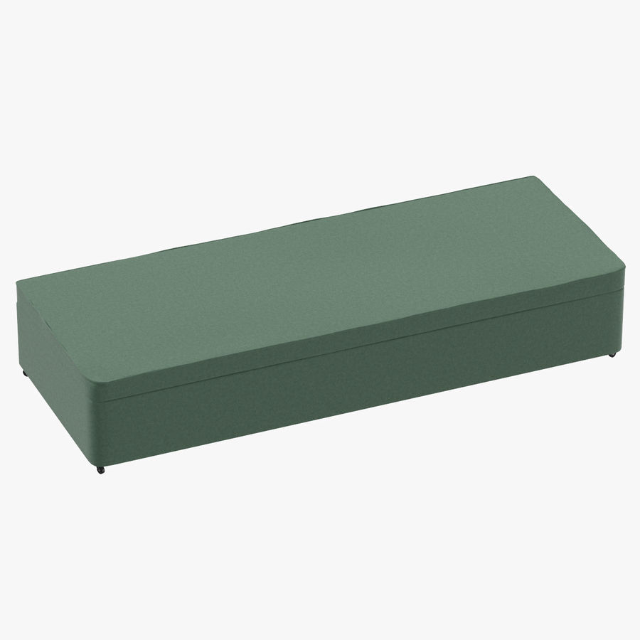 Bed Base 02 Mint royalty-free 3d model - Preview no. 1
